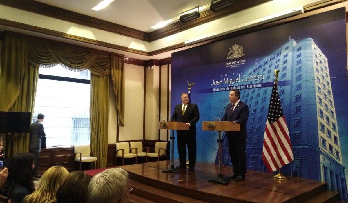 Conferencia de prensa conjunta del Canciller de Chile